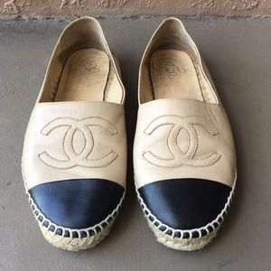 Women CHANEL Slips-on Loafers Shoes size 9